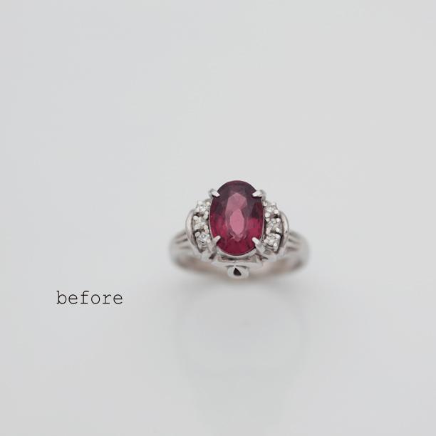 お父様がお母様にお贈りになったガーネットの指輪を