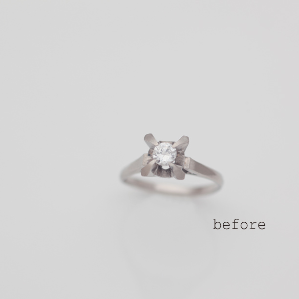 リフォームで完成したダイヤモンドリング