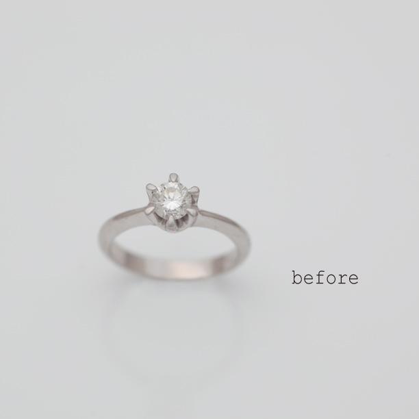 0.491ctダイヤモンドのリフォーム