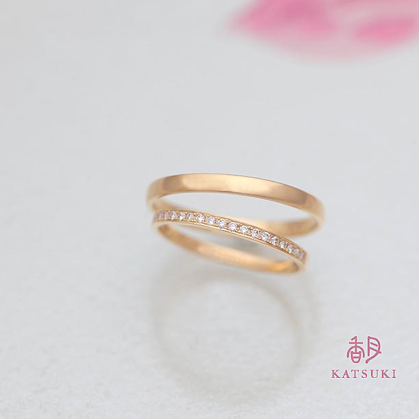ハーフエタニティK20イエローゴールドの結婚指輪