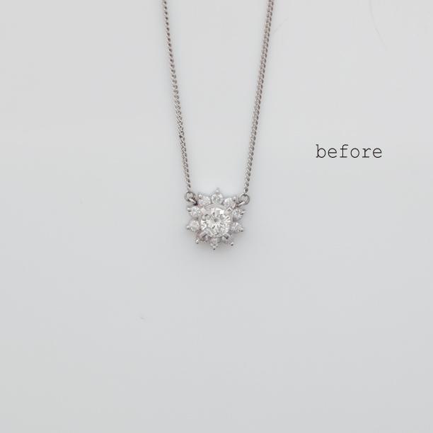 ご両親の想いの詰まったダイヤモンドネックレスのリフォーム