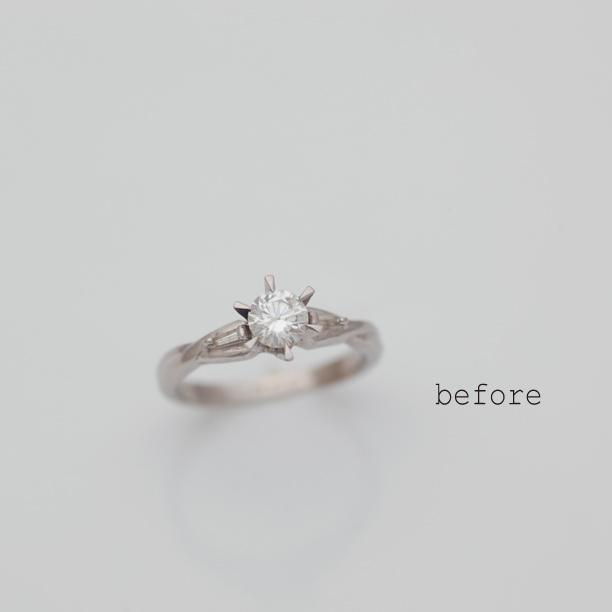 譲り受けられた立爪婚約指輪のリフォーム
