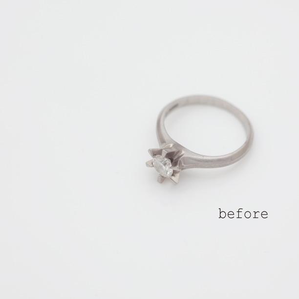 立爪婚約指輪のリフォームで仕上がった婚約指輪
