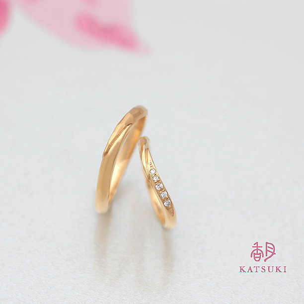 KATSUKI オリジナル素材の結婚指輪K20YG