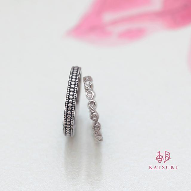 ご結婚10周年記念のクラシックな雰囲気漂う結婚指輪