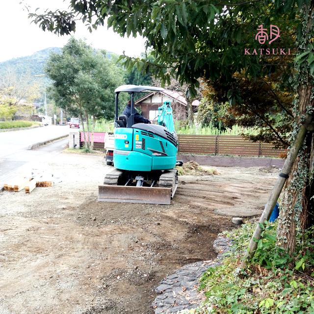 熊本店駐車スペース改修工事開始