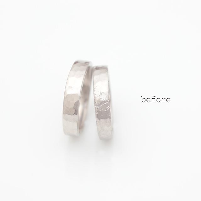 プラチナリングの新品仕上げ&ダイヤモンド追加