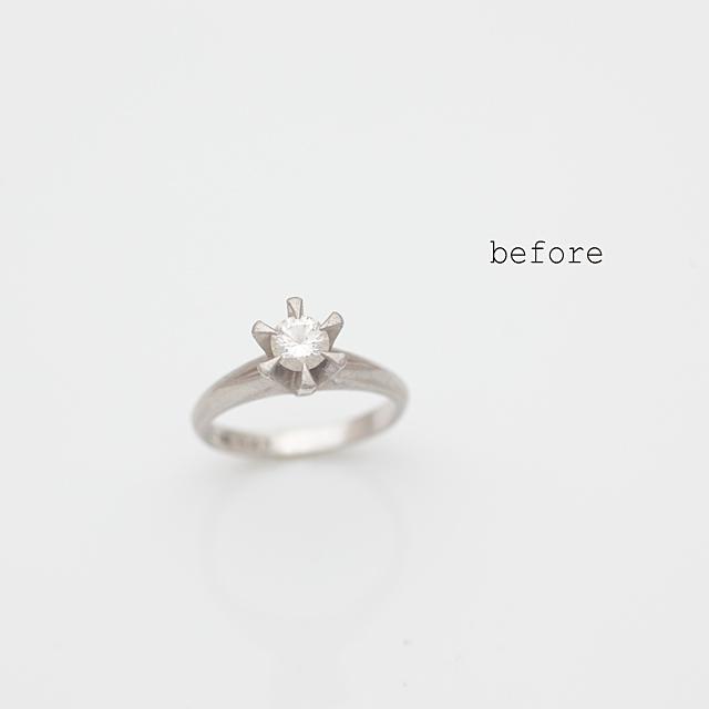 立爪婚約指輪のリフォーム