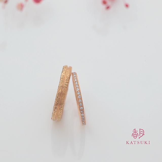 K20ピンクゴールドの結婚指輪