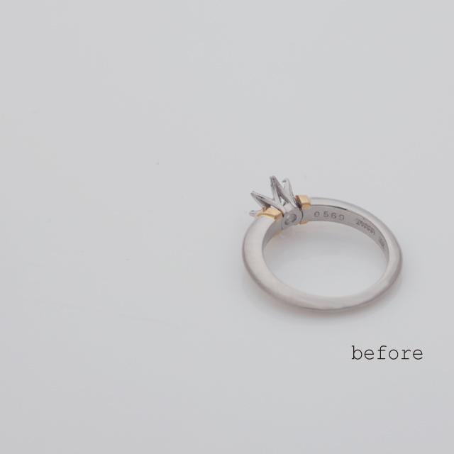譲り受けられたダイヤモンドが輝く婚約指輪(リフォーム)