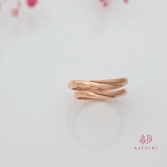 KATSUKIオリジナルK20ピンクゴールドの結婚指輪
