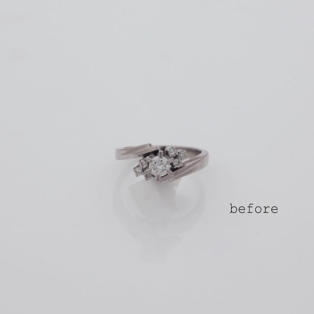お母様のリングのリフォームで生まれた婚約指輪