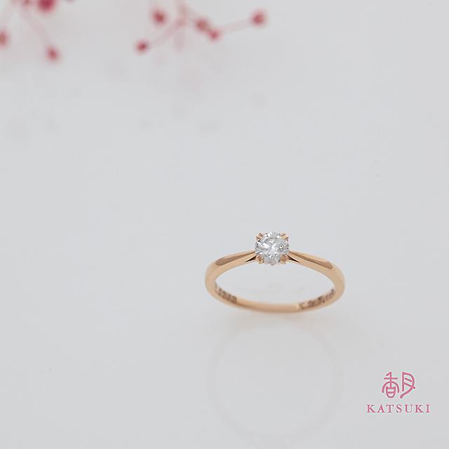 K20イエローゴールドの婚約指輪