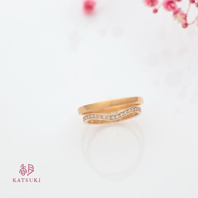 K20YGハーフエタニティの結婚指輪