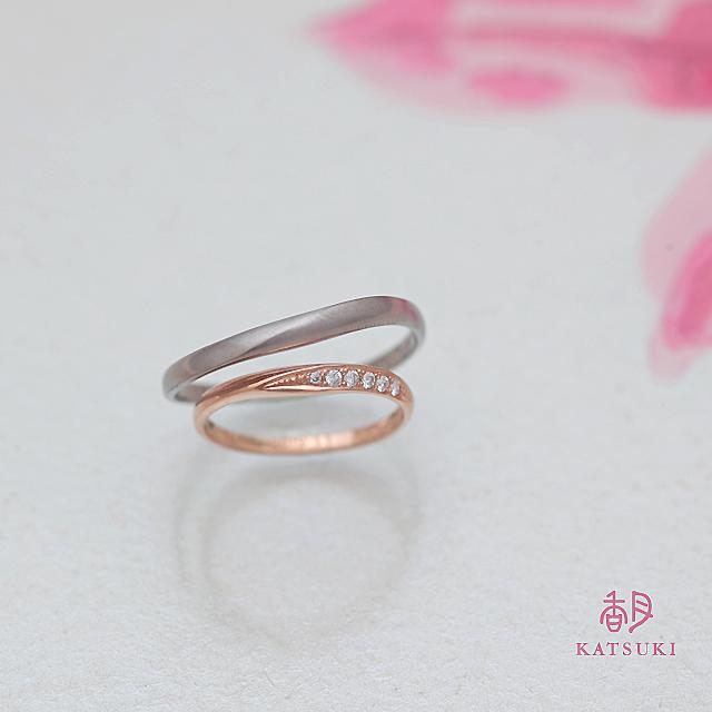 ひねりとダイヤモンドの結婚指輪【ヘスティア】