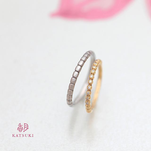 丸いシルエットが愛らしい結婚指輪【プール・ドゥー】