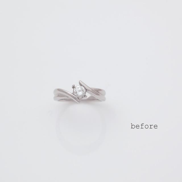 <リフォーム>お母様のダイヤモンドが輝く婚約指輪