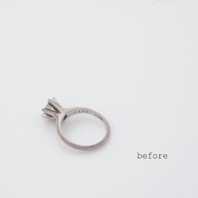 <リフォーム>お母様から譲り受けられたダイヤモンドが輝く婚約指輪