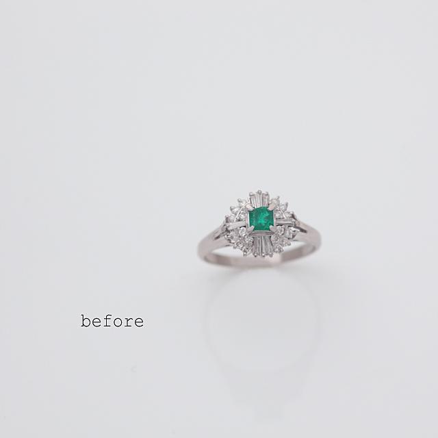 <リフォーム>エメラルドに家族の温もりを感じる婚約指輪