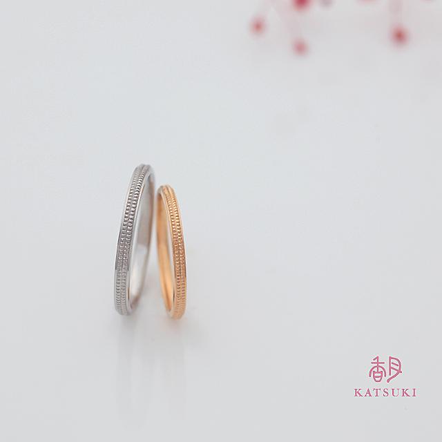 2本のミルラインが輝く結婚指輪【ビブラビブレ】