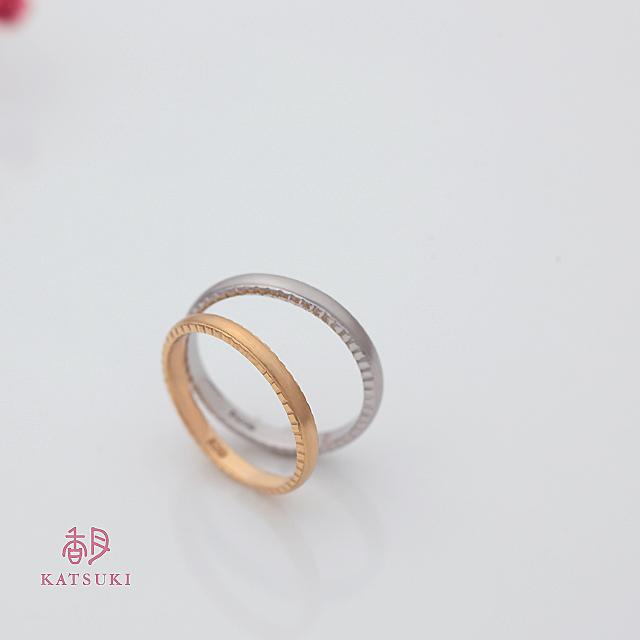 横顔にこだわった結婚指輪【アン・ラポール】