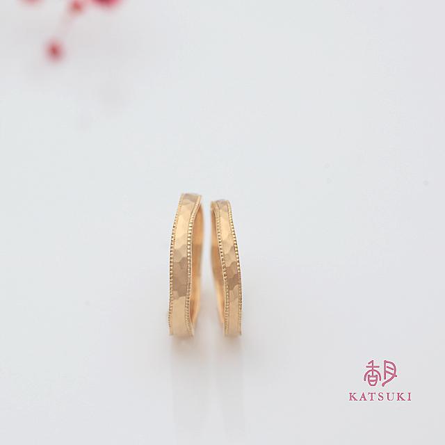 K18イエローゴールドの結婚指輪【リュンヌ】
