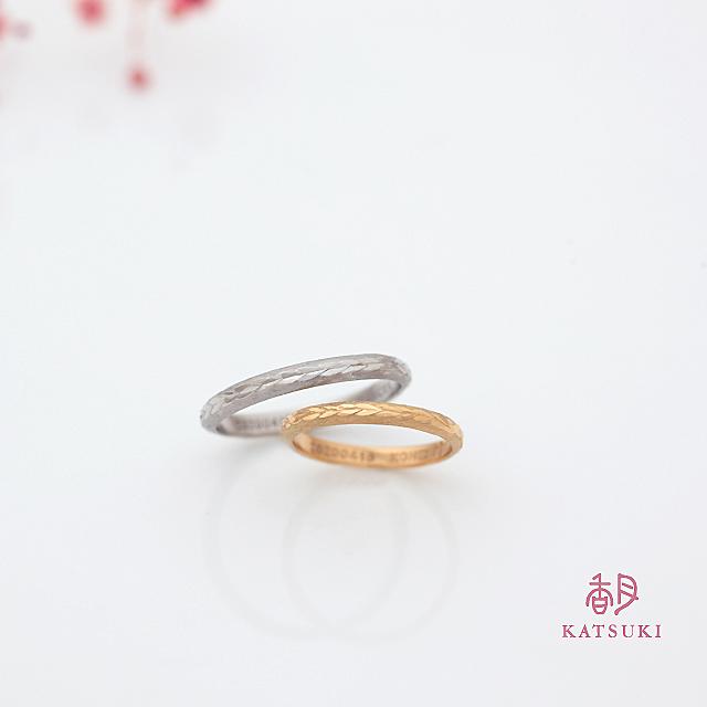 連ねた葉っぱに願いを込めた結婚指輪【ラシュレ】