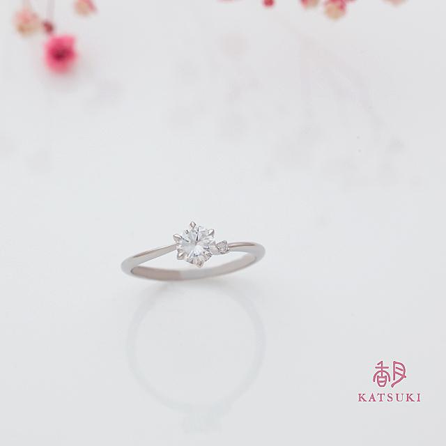 Sライン6本爪の婚約指輪【アヴェク・アムール】アレンジあり