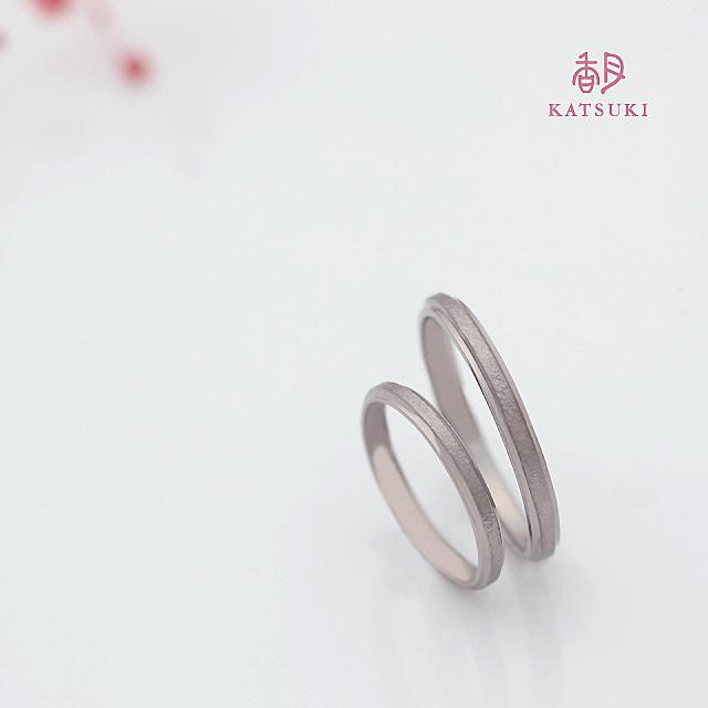 K18ホワイトゴールドの結婚指輪【アンディマンシェ】