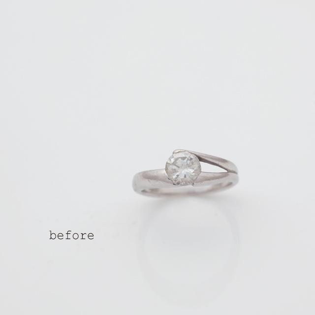 1カラットのダイヤモンドが煌めく婚約指輪<リフォーム>
