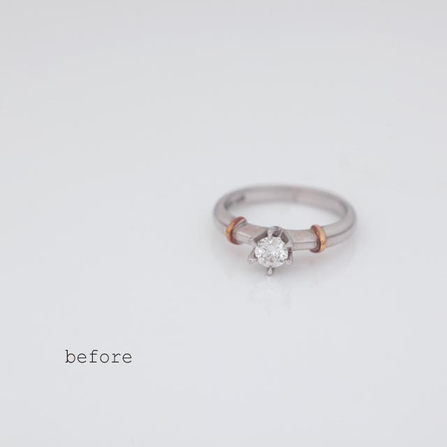 K20ピンクゴールドの婚約指輪【プール・アムール】<リフォーム>