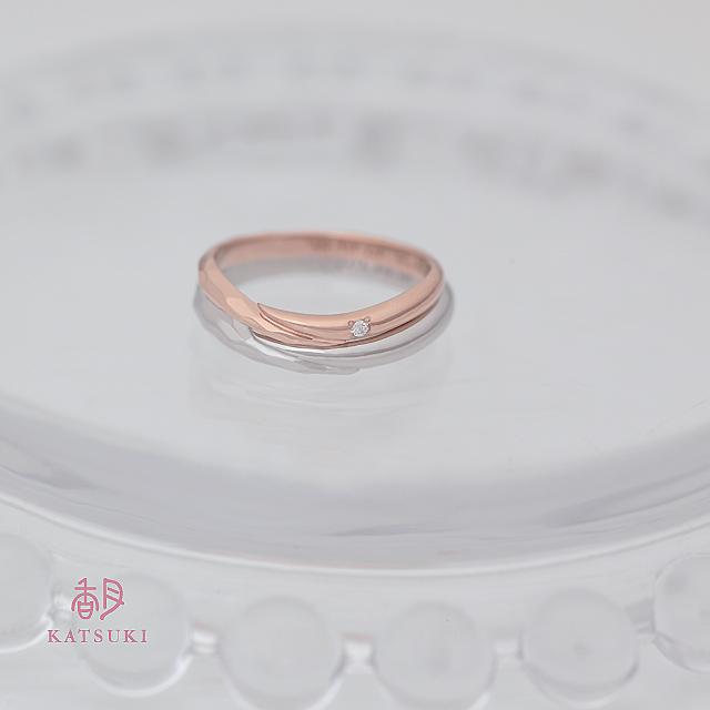 ハーフ&ハーフの結婚指輪【メテオール】