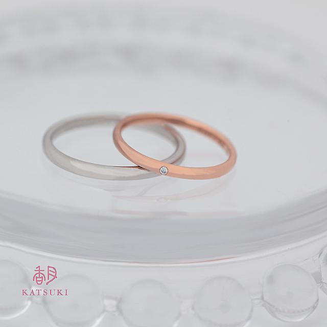 甲丸シンプルな結婚指輪【プルーヴⅡ】