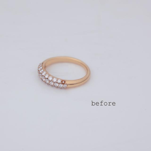 石がなくなってしまった指輪への石留め<修理・リフォーム>