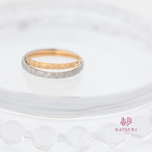 角を残して面取りを施す結婚指輪【エタンセル】