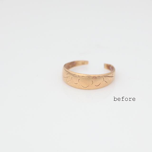 おばあちゃんの指輪を普段使いの指輪へ<リフォーム>