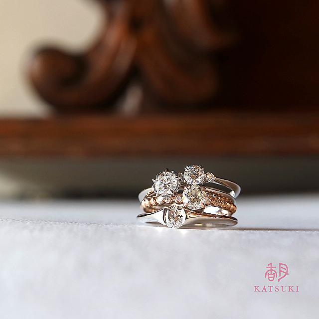 それぞれのストーリーを紡ぐダイヤモンドリングたち
