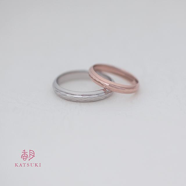 凸部分にのみ面取りを施すシンプルな結婚指輪【エターナル】