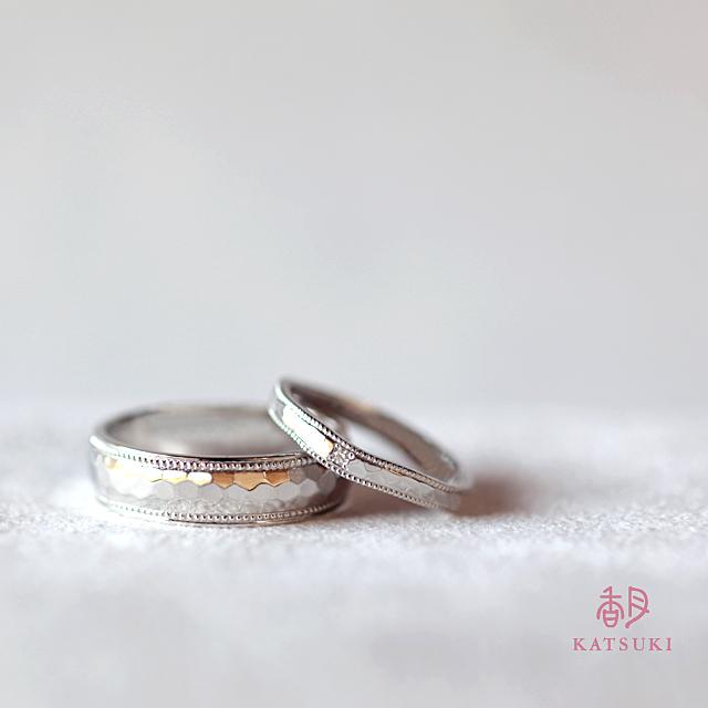 異なるシルエットでもペア感溢れる結婚指輪【ラヴィサン】&【リュンヌ】