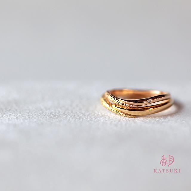 ハーフハーフの結婚指輪【アン・カラン】