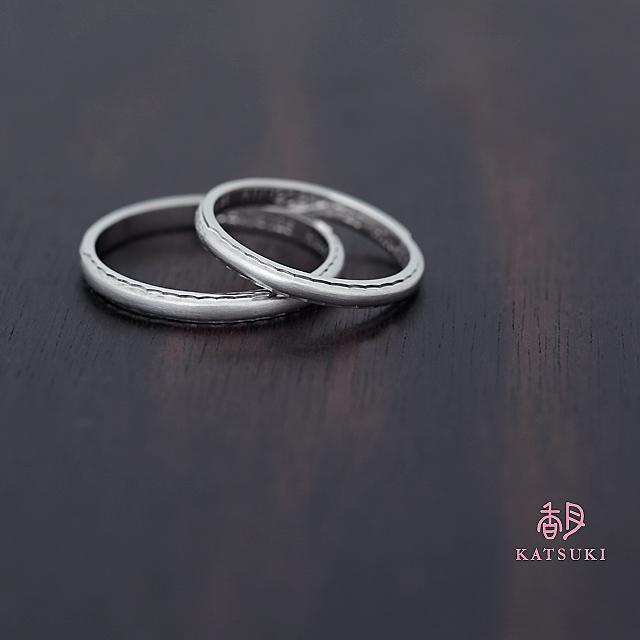 2WAYデザインの結婚指輪【サンティエ】