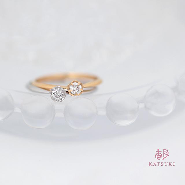 0.1ctダイヤモンドの婚約指輪【フルーリ】