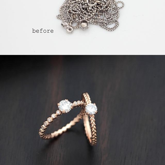 使わないネックレスを指輪に<リフォーム>
