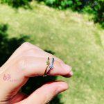 0.1ctのダイヤモンドが輝く繊細な指輪【アビエ】