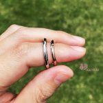ハーフハーフの結婚指輪【メテオール】