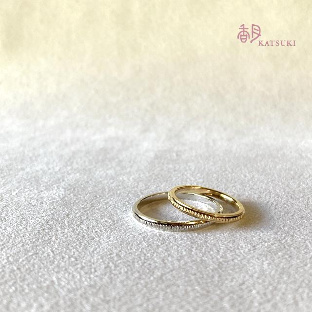 熟練職人の鏨が輝きを宿す結婚指輪【エマーブル】