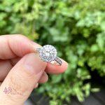 1.149ctのダイヤモンドが煌めくフルオーダーリング